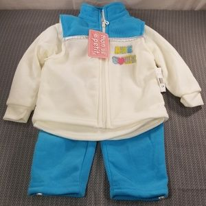 Girls Mon petit (3) piece outfit NWT size 12m